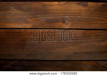 Dark Wooden Planks Background Horizontal With Space