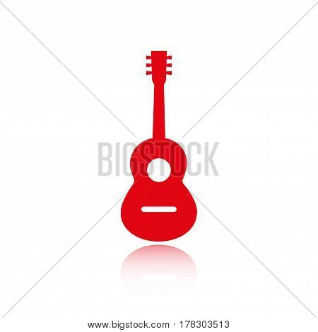 Acoustic guitar sign icon. Music symbol. stock vector illustration flat design
