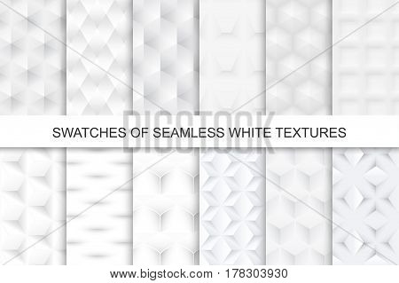 White seamless textures - swatches. Seamless texture in swatches panel.