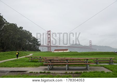 West Bluff Picnic Area lovely place with vistas of Golden Gate Bridge : Golden Gate National Recreation Area Long Ave San Francisco