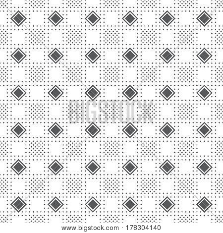 Plaid seamless pattern. Classical tablecloth texture. Checkered fabric background. Regularly repeating geometric tiles with rhombuses. Geometrical cover surface.