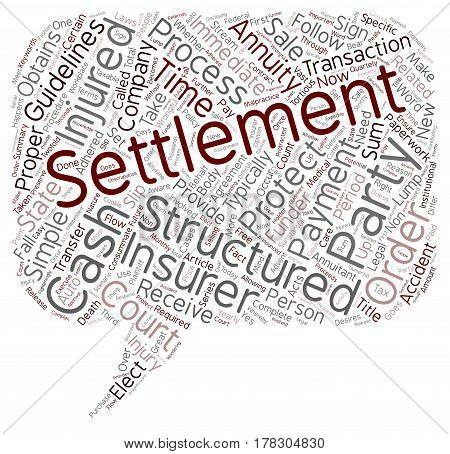 Get Cash for Structured Settlement text background wordcloud concept
