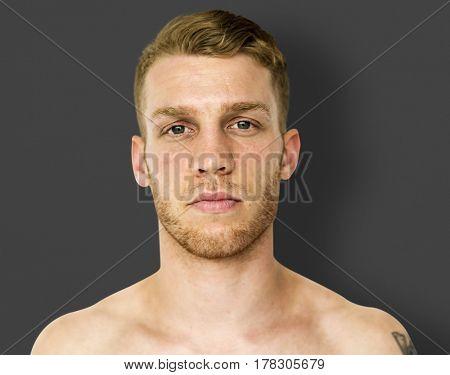 Man close up photoshoot and posing