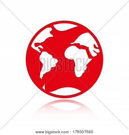 Earth icon stock vector illustration flat design