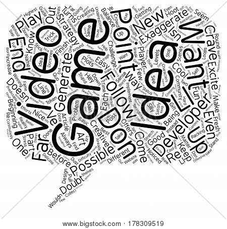 Getting NewuIdeas for VideouGames Part 4 text background wordcloud concept