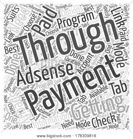 Getting paid through AdSense program Word Cloud Concept