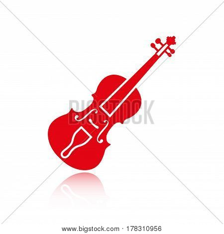 Violin icon stock vector illustration flat design