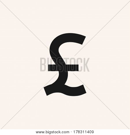 Great Britain pound symbol. Pound sterling icon. GBP