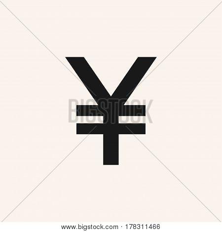 Japanese yen symbol. Vector yen sign, icon JPY