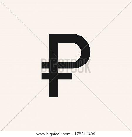 Russian ruble sign. Ruble vector icon. RUB