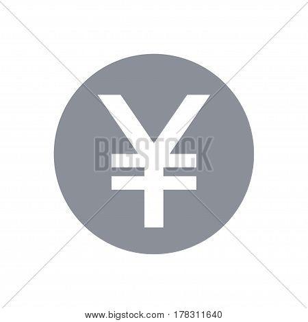 Japanese yen symbol. Vector round coin yen icon. JPY