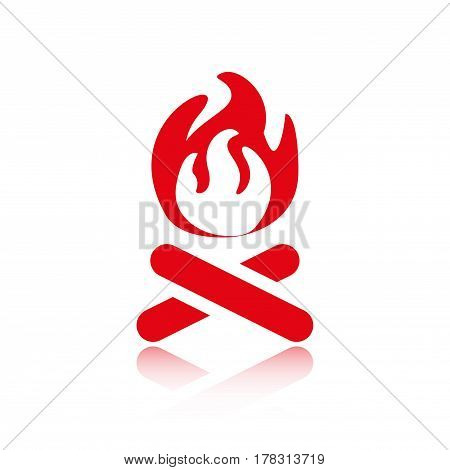fire icon stock vector illustration flat design
