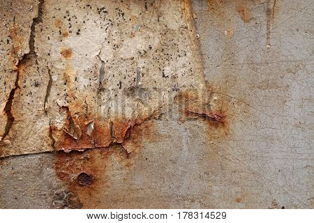 Dirty Old Rusted Grunge Rough Surface. Close Up