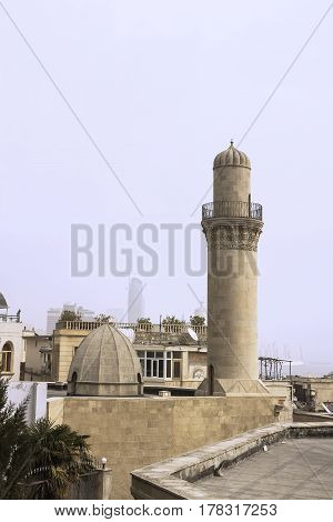 Ancient mosque in Icheri Shahar (Old city) Baku, Azerbaijan