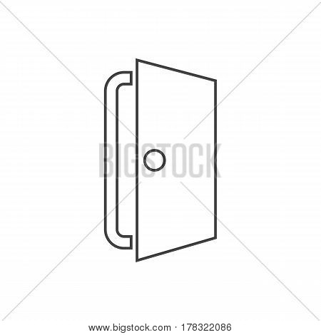 Door icon vector on the white background. Vector illustration