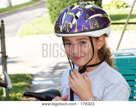 Cute Girl In A Helmet