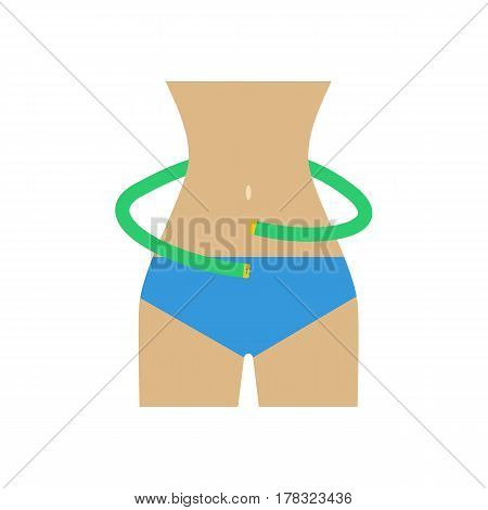Waist measurements on the white background. Vector illustration