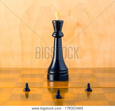 The commander-in-chief on the chessboard is a battlefield where pawns defend their king sometimes sacrificing themselves