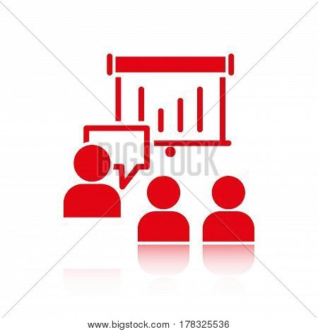 speaking of people, the chat icon stock vector illustration