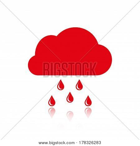 cloud with rain drops icon stock vector illustration flat design