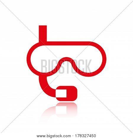 underwater Snorkelling icon stock vector illustration flat design