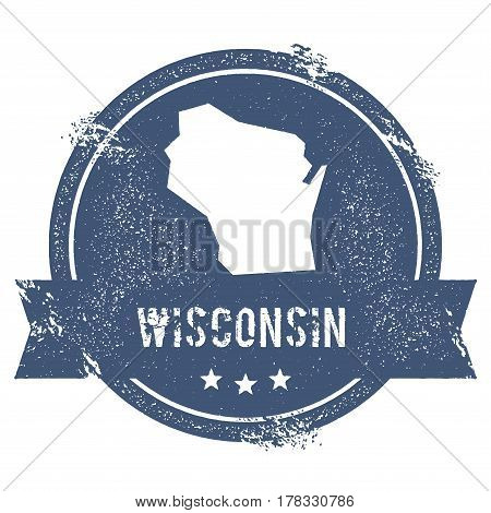Wisconsin Mark. Travel Rubber Stamp With The Name And Map Of Wisconsin, Vector Illustration. Can Be
