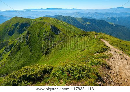 Green Mountain Ridge, Covered With Fresh Grass