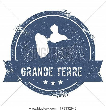 Grande-terre Logo Sign. Travel Rubber Stamp With The Name And Map Of Island, Vector Illustration. Ca