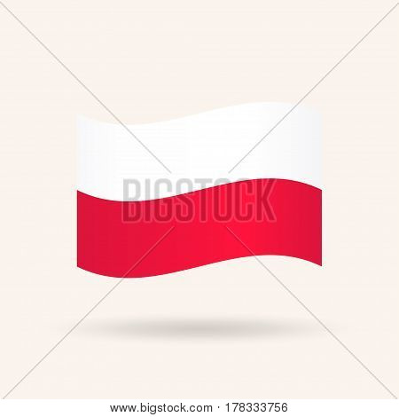 Flag of Poland. Accurate dimensions, proportions and colors. Vector Illustration