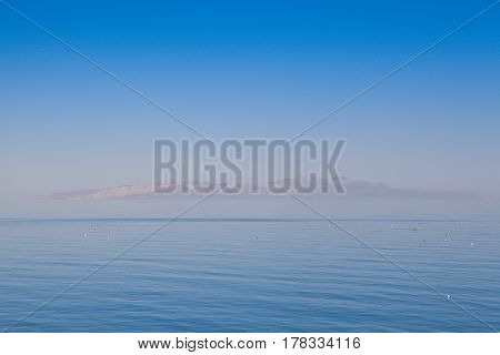 Antelope Island on the Great Salt Lake Utah USA.