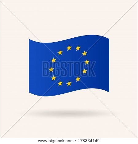 Flag of European Union, Accurate dimensions, proportions and colors. Vector Illustration