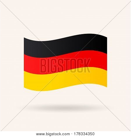 Germany Flag. Accurate dimensions, proportions and colors. Vector Illustration