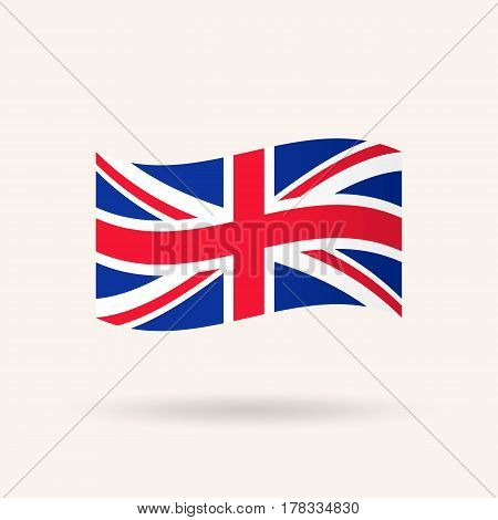 United Kingdom or Britain flag. Accurate dimensions, proportions and colors. Vector Illustration
