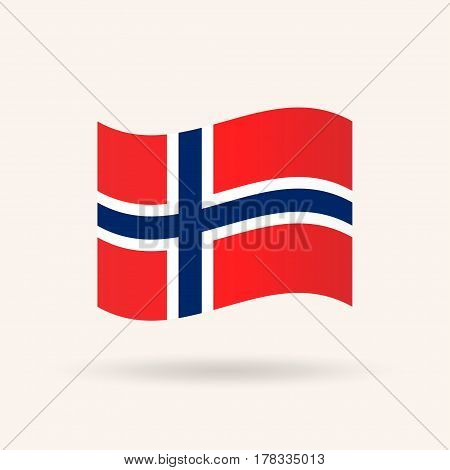 Flag of Norway. Accurate dimensions, proportions and colors. Vector Illustration