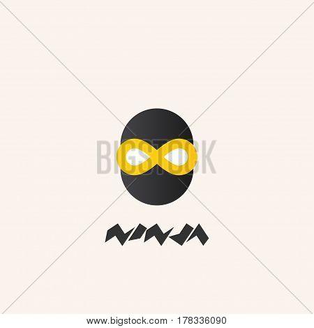 Ninja logo, vector ninja mask icon illustration