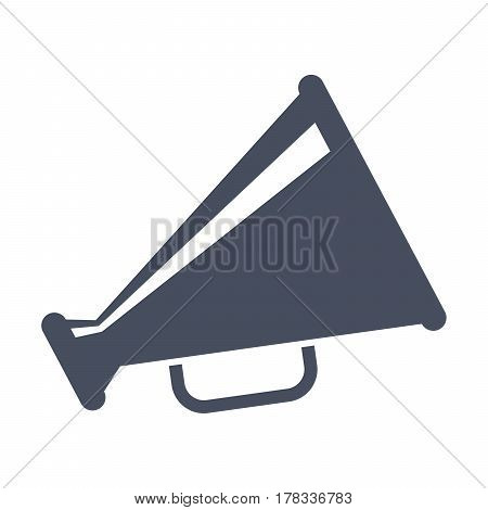 Megaphone, black vector silhouette on white background