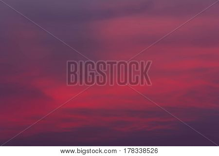 Fantastic dreamy sunrise bright blue skies and colorful clouds