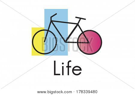 Bike Graphic Icon on White Background