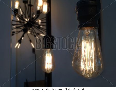 lighting decor retro style it very beautiful