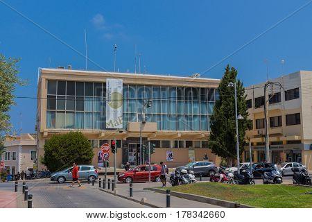 Rethymno, Greece - August  5, 2016: Rethymno City Hall.