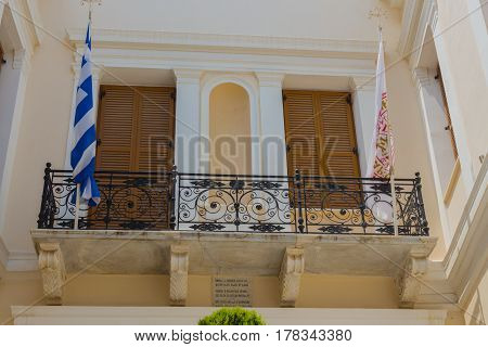 Rethymno, Greece - August  5, 2016: Building In The Old Town.