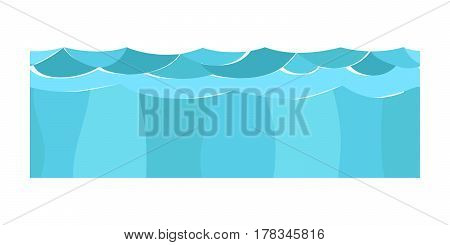 Cross section blue water slice isolated some piece nature outdoor ecology underground and freestanding render garden natural geologist earth vector illustration. Ecology agriculture crosssection.