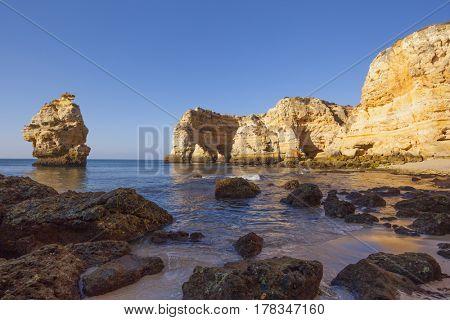 Marinha beach at sunrise, Lagoa - Algarve Portugal