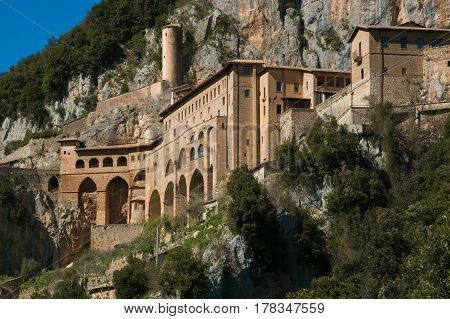 Saint Benedict Abbey in Subiaco, Lazio, Italy