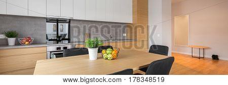 Panorama Of Modern Kitchen