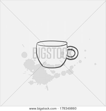irish coffee glass mug hand drawn icon - vector illustration