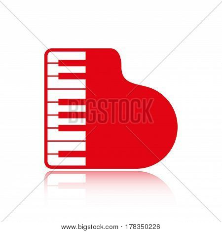 piano icon stock vector illustration flat design
