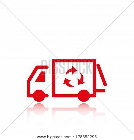 garbage truck icon stock vector illustration flat design