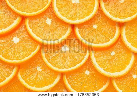 Orange fruit slices as  background or texture