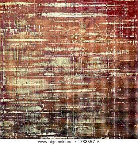 Grunge background for a creative vintage style poster. With different color patterns: yellow (beige); brown; gray; red (orange); pink